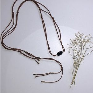 Jewelry - Brown Leather necklace